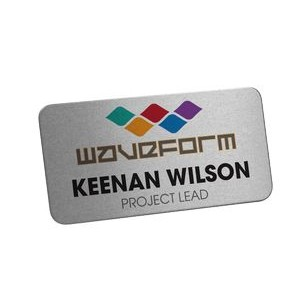 Digitally Printed Metal Name Badge